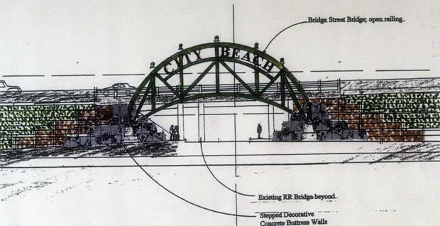 City Beach Bridge Sketch by Mark Spitzer