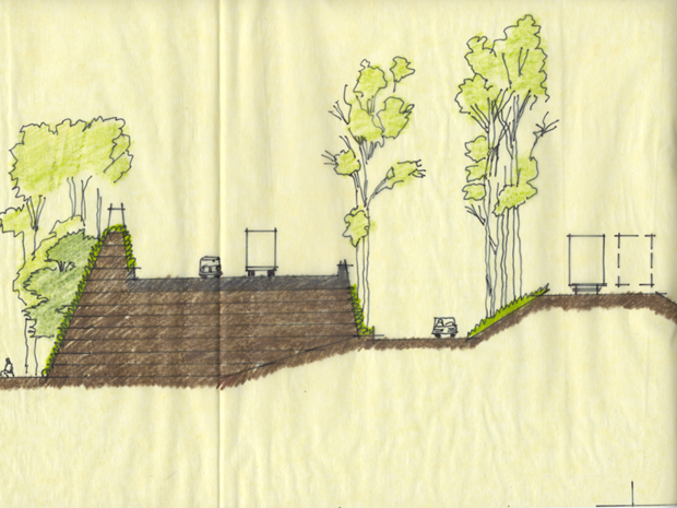 MSE Green Wall Sketch by Mark Spitzer