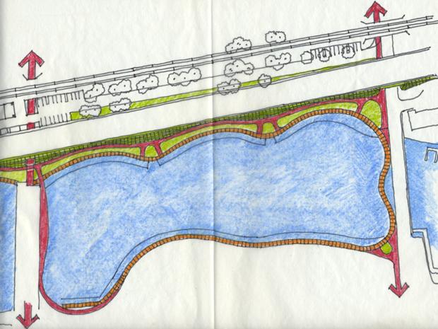 Sand Creek River Walk Sketch by Mark Spitzer
