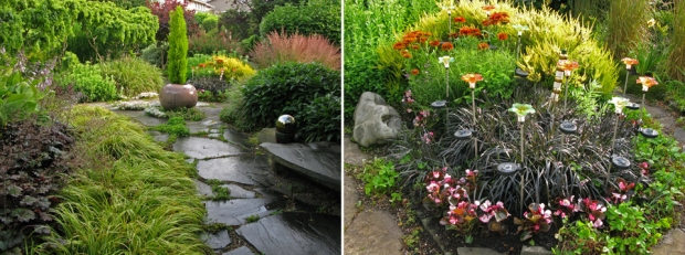 July 2012:  Paths and details, more solar lights