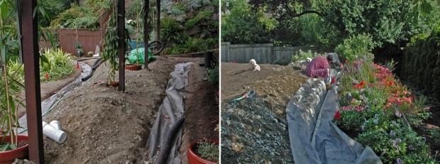 Summer 2006:  Beginning the rain garden