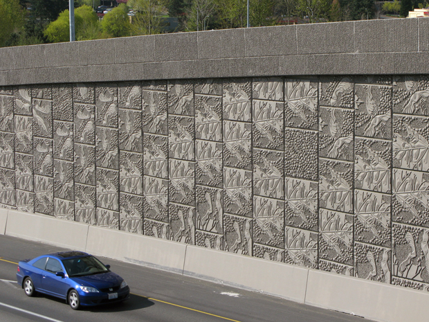 Maple Leaf Patterning on I405 at Totem Lake, WA