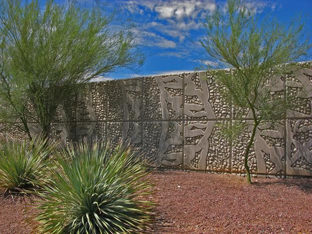 La Cholla Walls, Tucson, AZ with Natural Patina