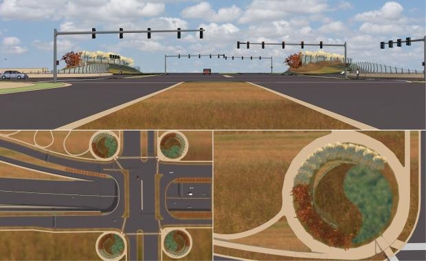 Landscape disks elevated Webb into a city gateway
