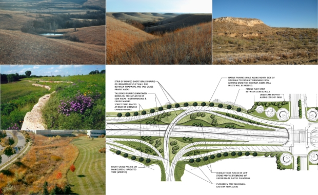 The native landscaping harnessed the power of the prairie