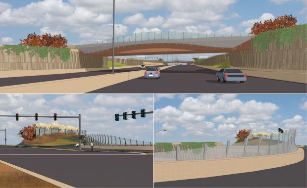 The bridges at KTA and Webb held graceful mesh screens