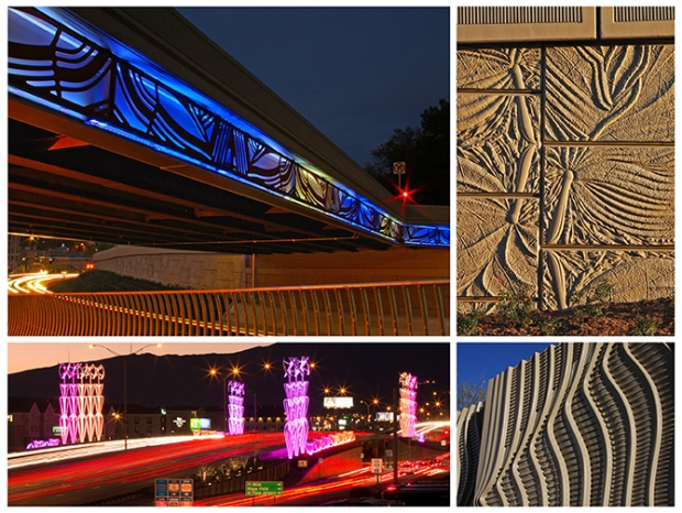 Both Arlington and Airway use light and concrete patterning