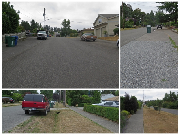 Typical residential streets in the Broadview neighborhood