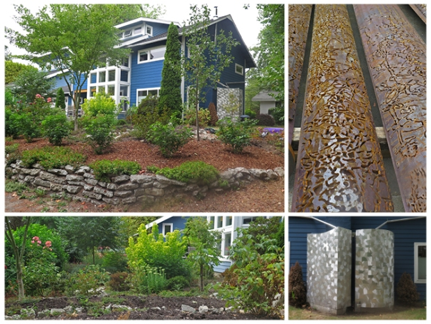 Rain catchment system for residential garden